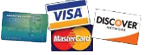 credit cards accepted visa mastercard discover American expres
